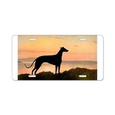 Greyhound Sunset Aluminum License Plate