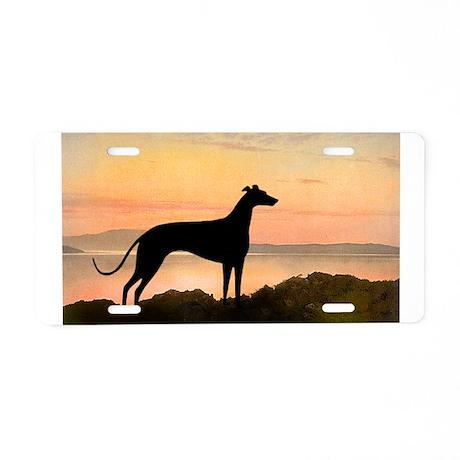 Greyhound Sunset Aluminum License Plate