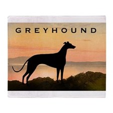 Greyhound Sunset Throw Blanket