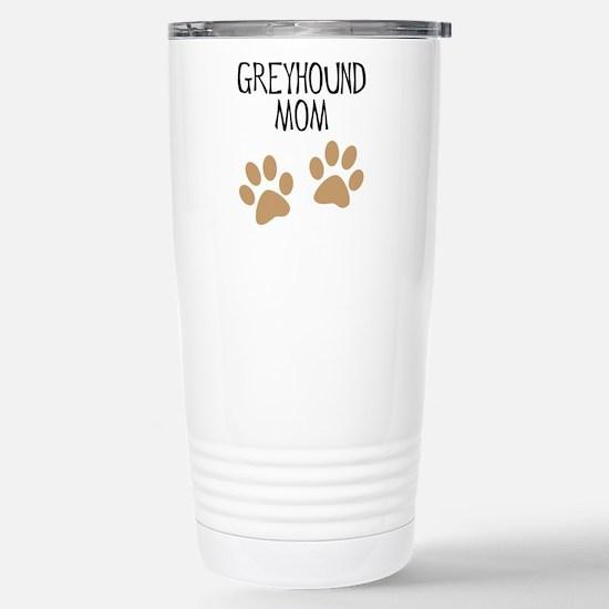 Greyhound Mom Stainless Steel Travel Mug