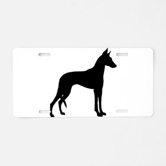Ibizan Hound Aluminum License Plate