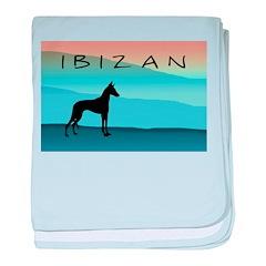 Ibizan Blue Mountains baby blanket