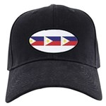 3 Philippine Flags Black Cap