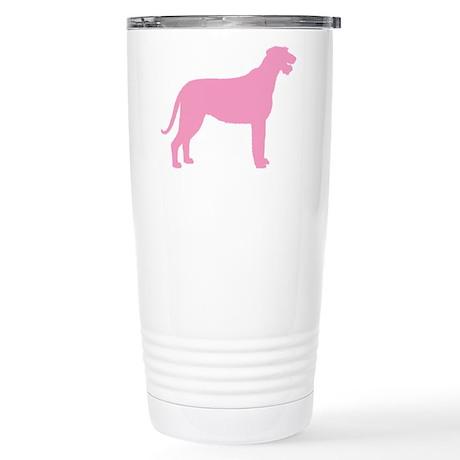 Pink Irish Wolfhound Stainless Steel Travel Mug