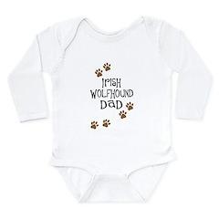 Irish Wolfhound Dad Long Sleeve Infant Bodysuit