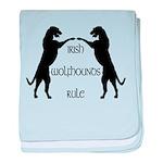 Irish Wolfhounds Rule baby blanket