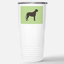 Green/Brown Irish Wolfhound Travel Mug