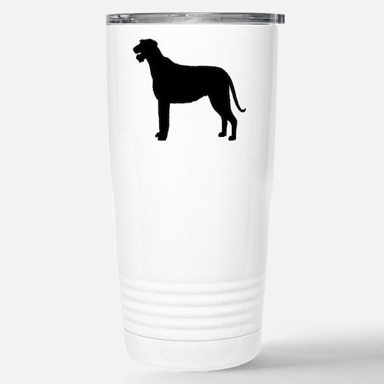 Irish Wolfhound Silhouette Stainless Steel Travel