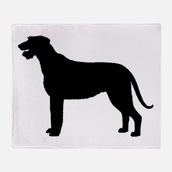 Irish Wolfhound Silhouette Throw Blanket