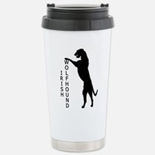 Tall Irish Wolfhound Stainless Steel Travel Mug