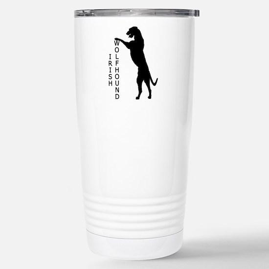 Tall Irish Wolfhound Stainless Steel Travel Mug