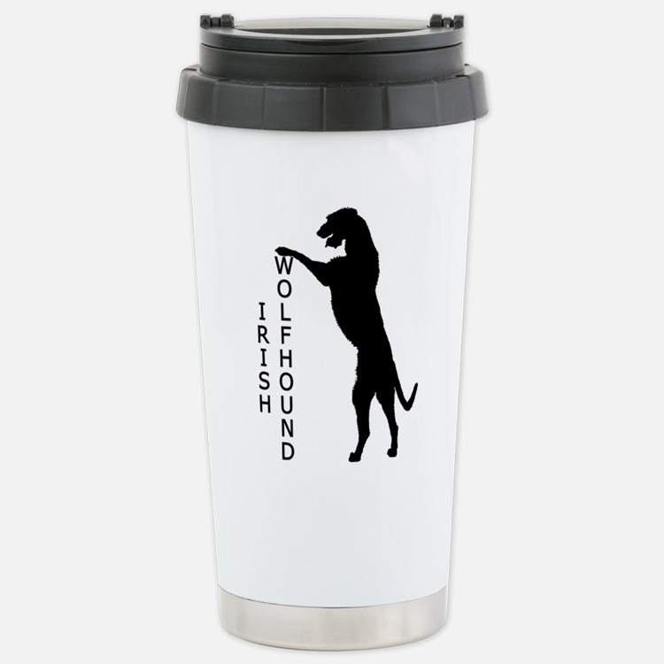 Tall Irish Wolfhound Thermos Mug