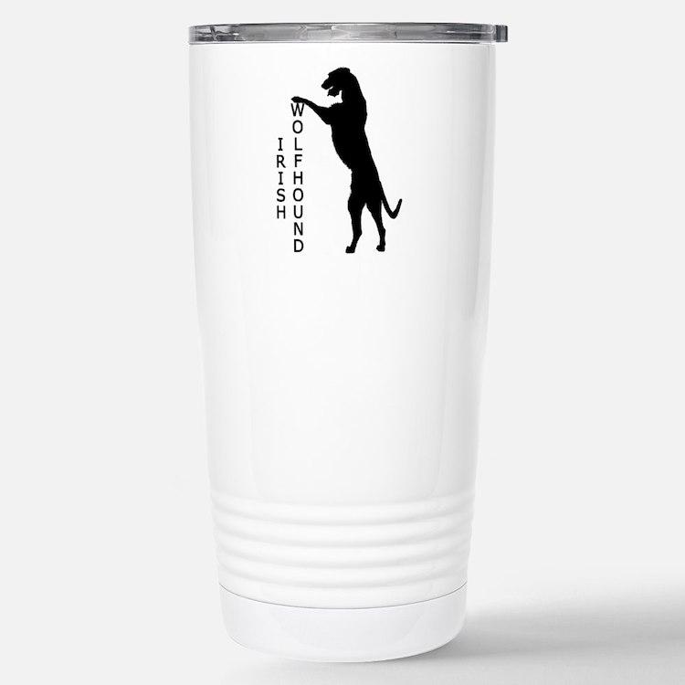 Tall Irish Wolfhound Travel Mug