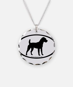 Jack Russell Oval Necklace