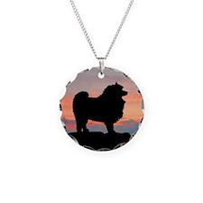 Sunset Keeshond Necklace