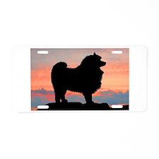 Sunset Keeshond Aluminum License Plate