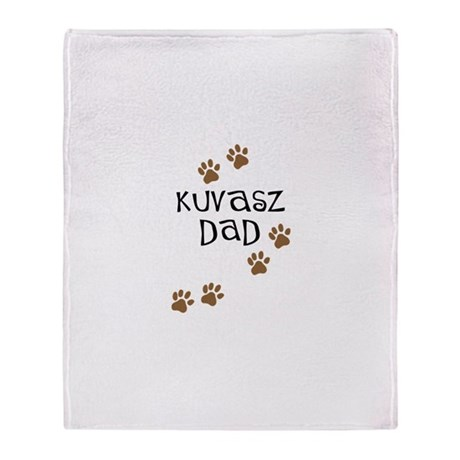 Kuvasz Dad Throw Blanket