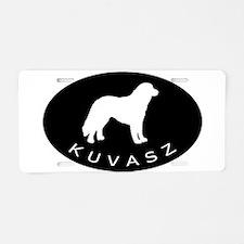 Kuvasz Dog Oval w/ Text Aluminum License Plate