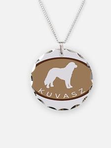 Kuvasz (brown oval) Necklace