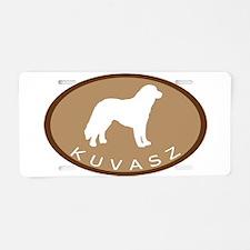 Kuvasz (brown oval) Aluminum License Plate