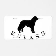 Kuvasz Dog w/ Text Aluminum License Plate