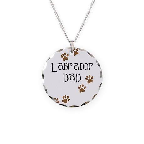 Labrador Dad Necklace Circle Charm