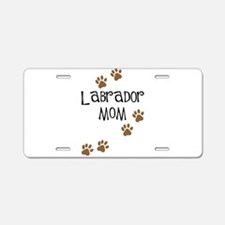 Labrador Mom Aluminum License Plate