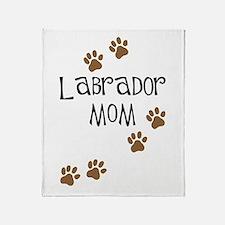 Labrador Mom Throw Blanket
