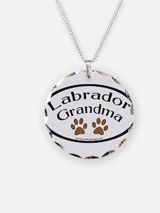 Labrador Grandma Oval Necklace