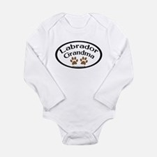 Labrador Grandma Oval Long Sleeve Infant Bodysuit