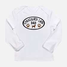 Chocolate Lab Dad Long Sleeve Infant T-Shirt