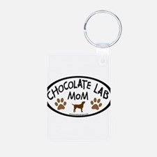 Chocolate Lab Mom Keychains