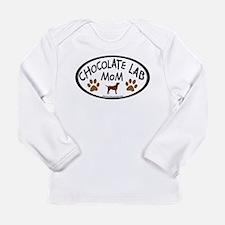 Chocolate Lab Mom Long Sleeve Infant T-Shirt