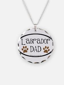 Labrador Dad Oval Necklace
