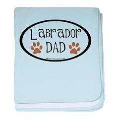 Labrador Dad Oval baby blanket
