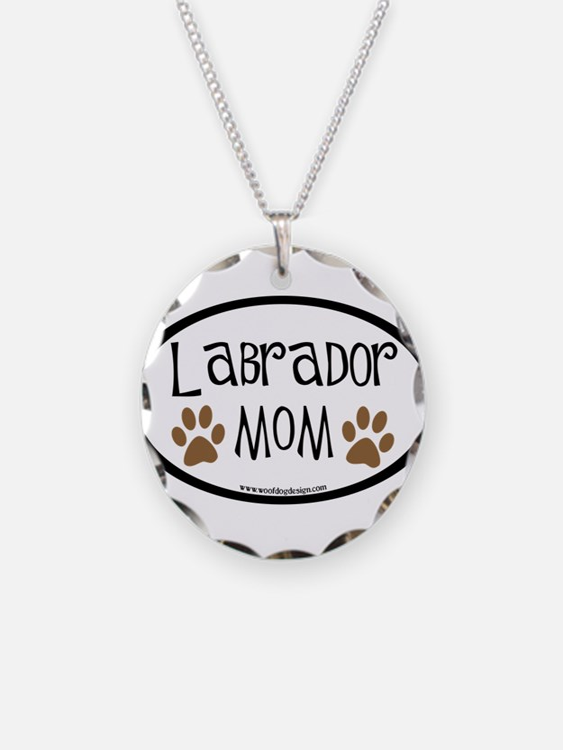 Labrador Mom Oval Necklace