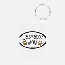 Labrador Mom Oval Keychains