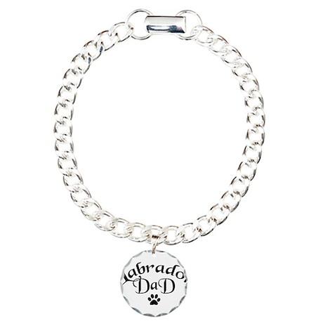 Labrador Dad (fancy text) Charm Bracelet, One Char