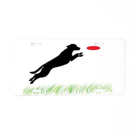 Labrador Dog Red Disc Aluminum License Plate