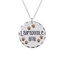 Labradoodle Mom Necklace Circle Charm
