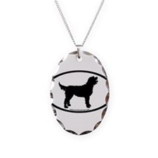 Labradoodle Oval Necklace