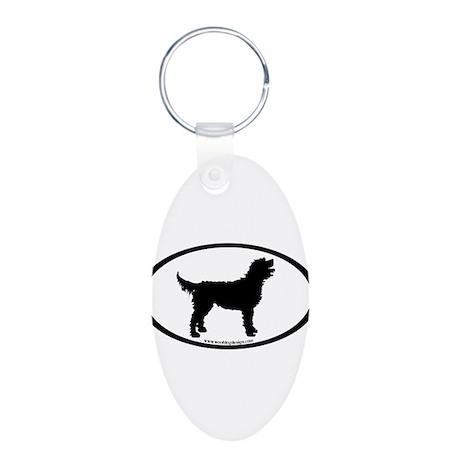 Labradoodle Oval Aluminum Oval Keychain