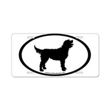 Labradoodle Oval Aluminum License Plate