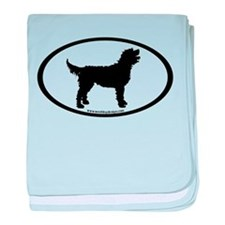 Labradoodle Oval baby blanket