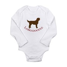 Labradoodle Dog Long Sleeve Infant Bodysuit
