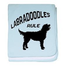 Labradoodles Rule baby blanket