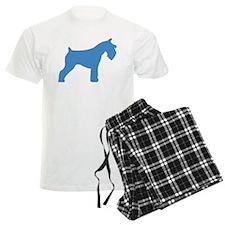 blue mini schnauzer Pajamas