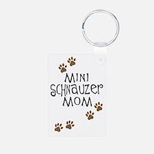 Mini Schnauzer Mom Keychains