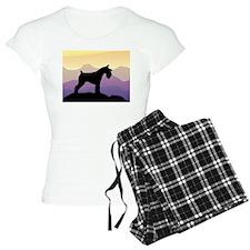 Purple Mt. Mini Schnauzer Pajamas