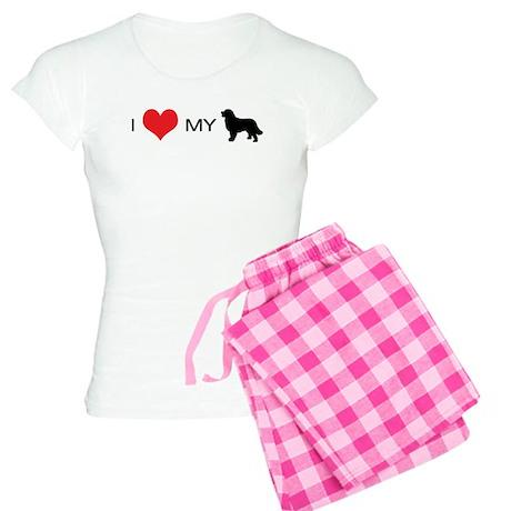 i heart my newfoundland Women's Light Pajamas